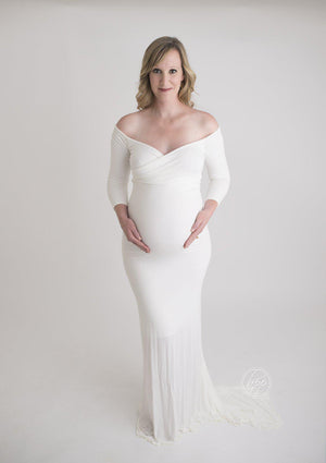 Emerlie Gown-Maternity Gown-Sew Trendy Accessories