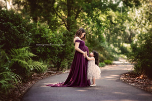 Faythe Gown-Maternity Gown-Sew Trendy Accessories
