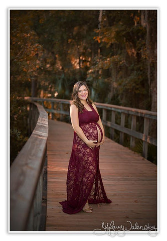 Leanne Gown • Lace Infinity Gown • Infinity Maternity Dress • Pregnancy Gown • Bridesmaid Dress • Senior Photos • Photo Shoot • Boho Dress • by Sew Trendy