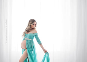 Lexcie Gown-Maternity Gown-Sew Trendy Accessories