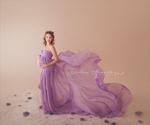 Lorraine Gown-Maternity Gown-Sew Trendy Accessories