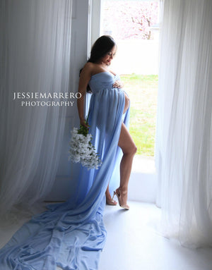 USED • Rachel Gown in Blue Rain • Small