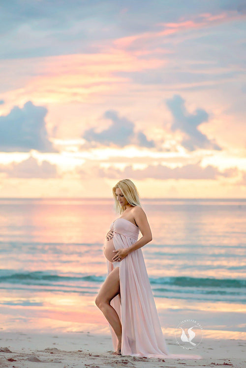 Rebecca Gown • Sheer Chiffon Maternity Gown • Sweetheart Style • Maternity Gown • Maxi Dress • Senior Photos Shoot • Bridesmaid Dress • by Sew Trendy
