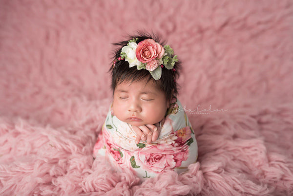 Floral Newborn Wrap {mint floral} | Ready To Ship