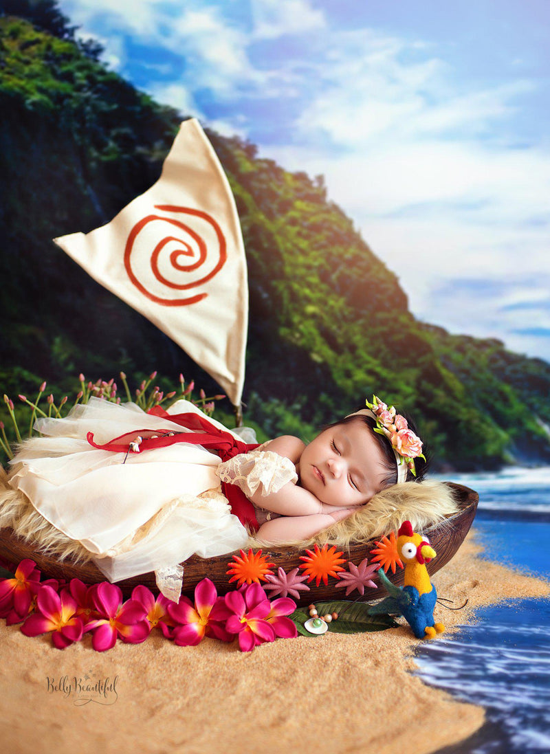 Meila Princess Dress • Moana Inspired-newborn dress-Sew Trendy Accessories