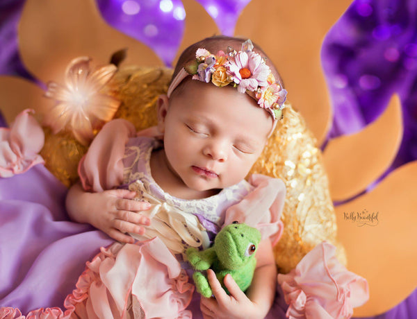 Rae Princess Dress • Rapunzel Inspired-newborn dress-Sew Trendy Accessories