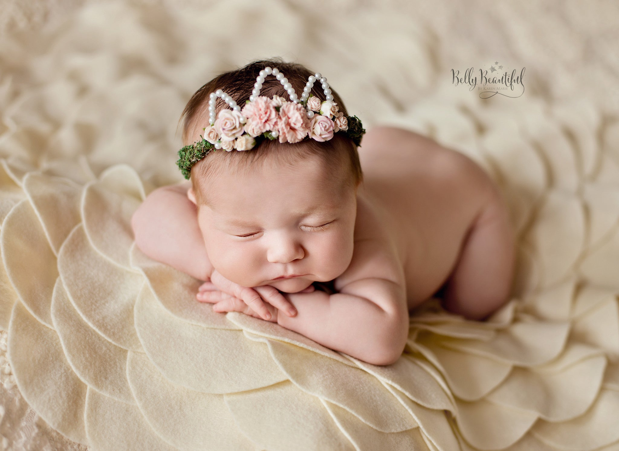 Mini Ingrid Newborn Flower Crown Sew Trendy Maternity Gown Shop