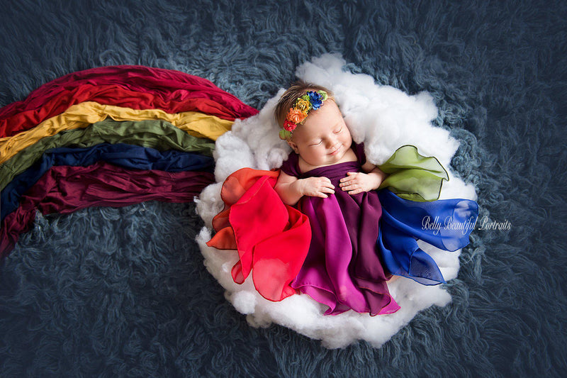 RTS | Destiny Gown Rainbow {jewel tones} | Ready To Ship-RTS newborn-Sew Trendy Accessories