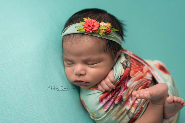 Floral Newborn Wrap {sage floral} | Ready To Ship