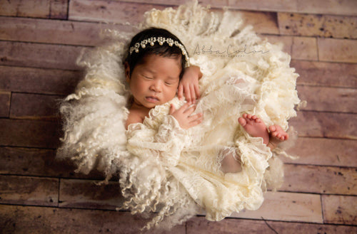 RTS: Violet Gown • Lace Newborn Gown | Ready to Ship • by Sew Trendy