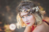 Freyja Flower Crown • Fall Floral Crown • Autumn Crown • Antler Flower Crown | Ready To Ship • by Sew Trendy
