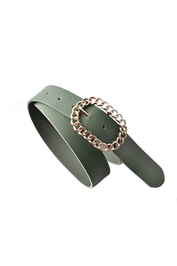 Fern Green Loop Buckle Belt