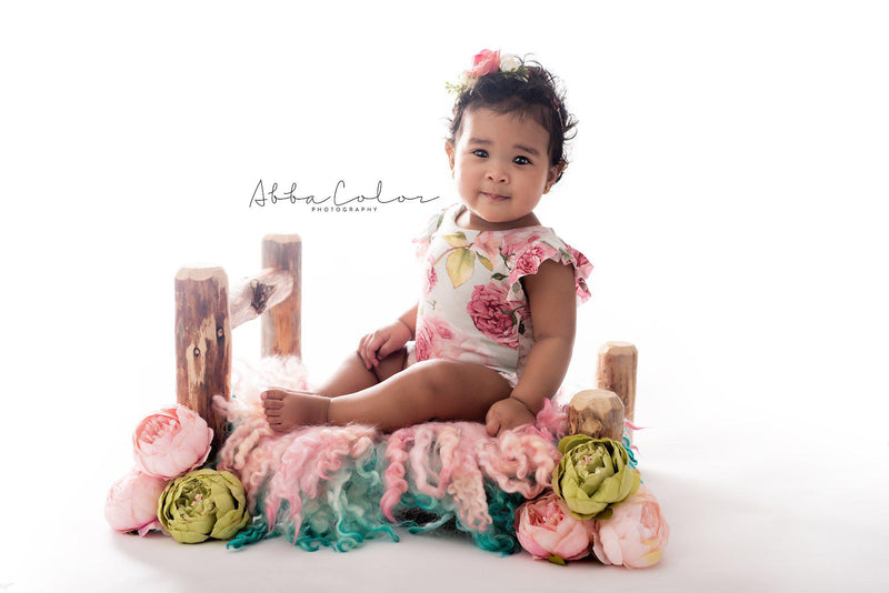 Ava Romper {mint floral}-newborn dress-Sew Trendy Accessories