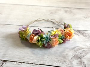 Wish Flower Crown {pastel tones}