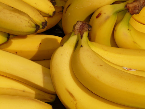 Close up of pregnant food bananas