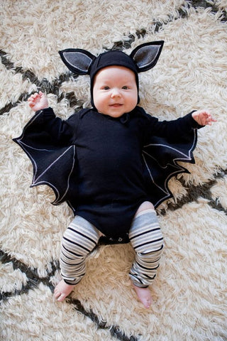baby dressed as a bat