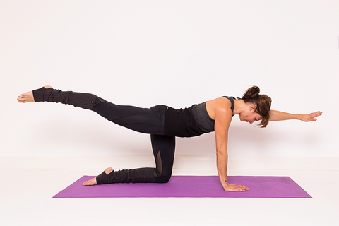 bird dog pose for yoga and exercise