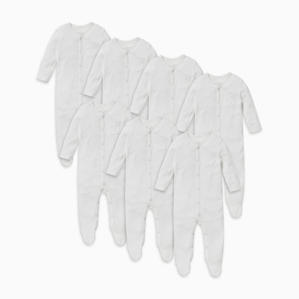 Front Opening Sleepsuit 7-Pack