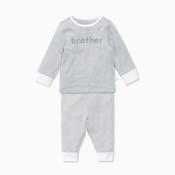 Blue Stripe Brother Slogan Pyjamas