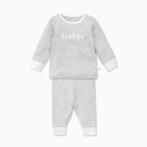 Grey Sister Slogan Pyjamas