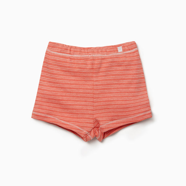 Coral Stripe Shorts