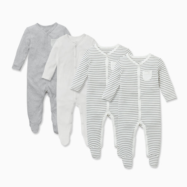 Front Opening Sleepsuit 4 Pack