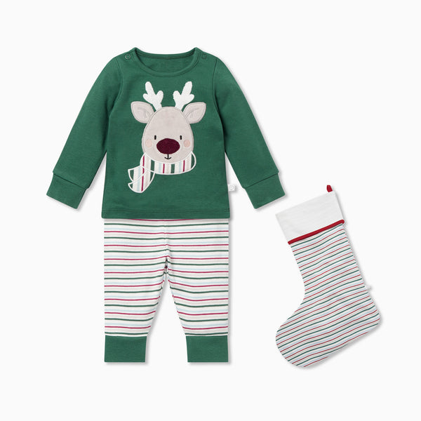Reindeer Pyjamas & Stocking Set