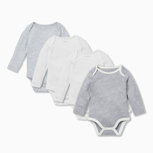 Fox Long Sleeve Bodysuit 4 Pack