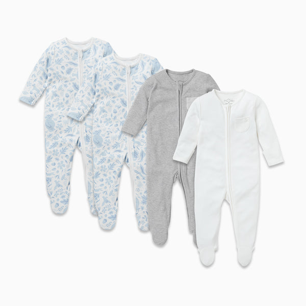 Gruffalo Dragonfly Blue Zip-Up Sleepsuit 4 Pack