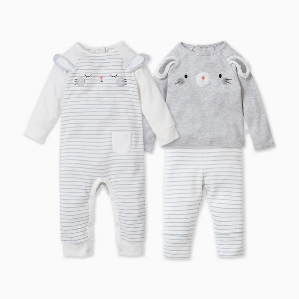 baby and toddler bunny sleepsuit and day wear