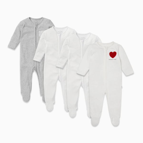 Kind Zip-Up Sleepsuit 4 Pack