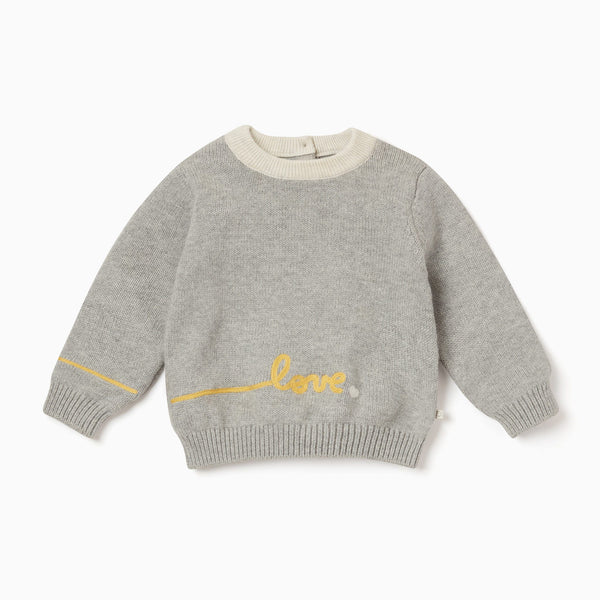 Knitted Slogan Jumper