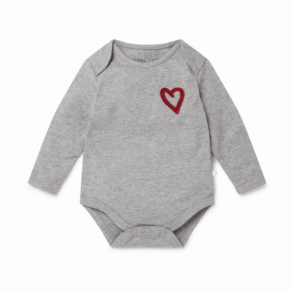 Little London Heart Long Sleeve Bodysuit