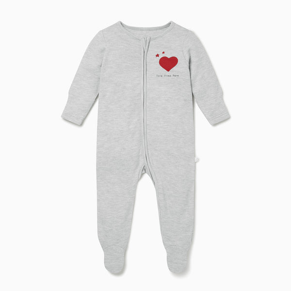 Love Zip-Up Sleepsuit