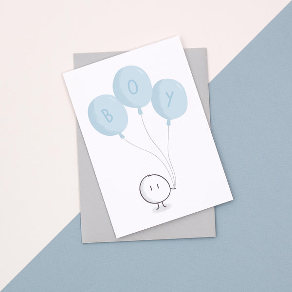 Blue Balloon Card