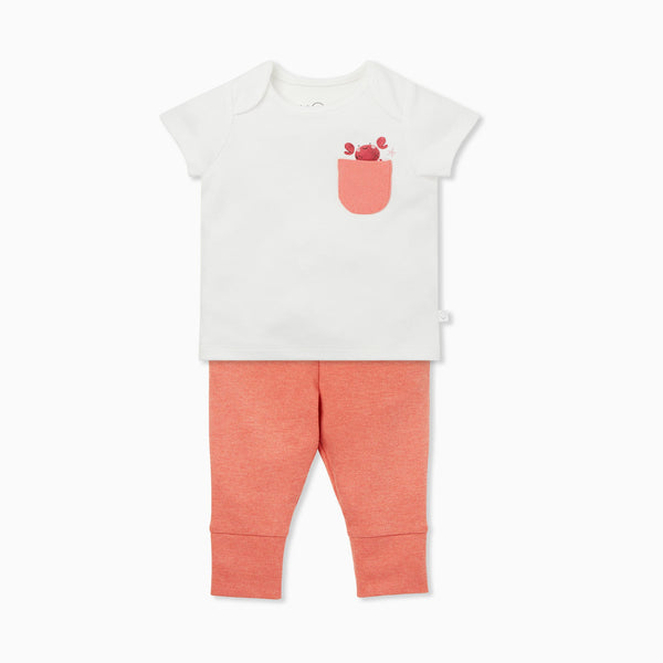 Coral Crab T-Shirt & Leggings Set