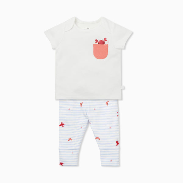 Ocean Crab T-Shirt & Leggings Set