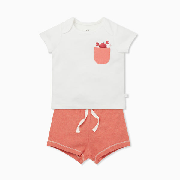 Coral Crab T-Shirt & Shorts Set