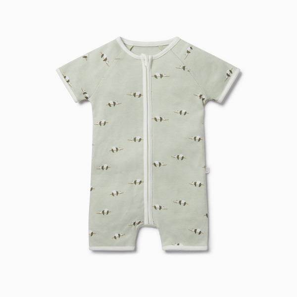 Panda Zip-Up Summer Sleepsuit