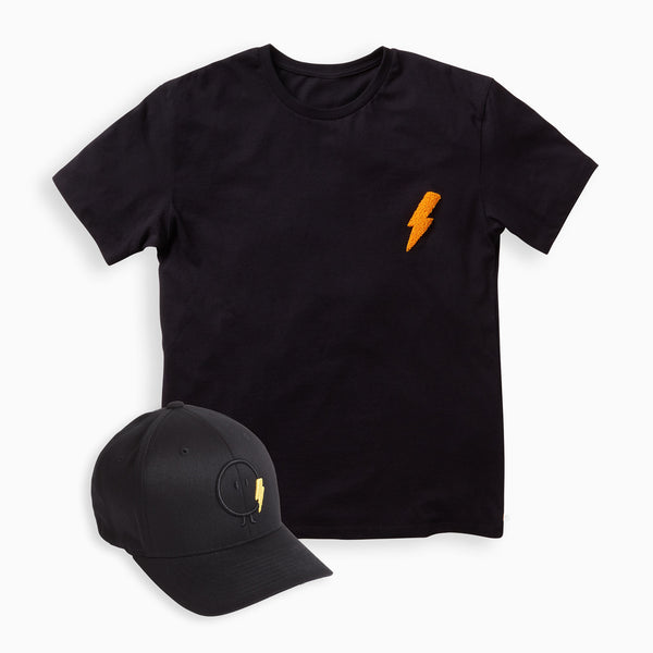 Papa Bolt Cap & T-Shirt Set