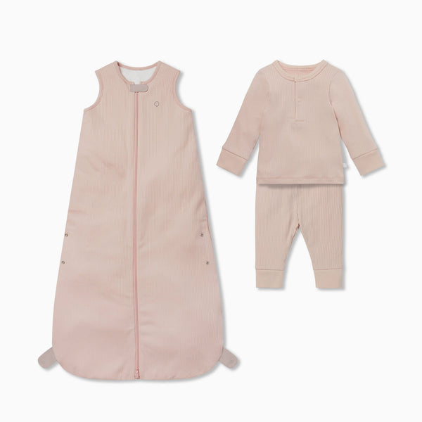 Ribbed Front Opening Sleeping Bag 2.5 TOG & Pyjama Set