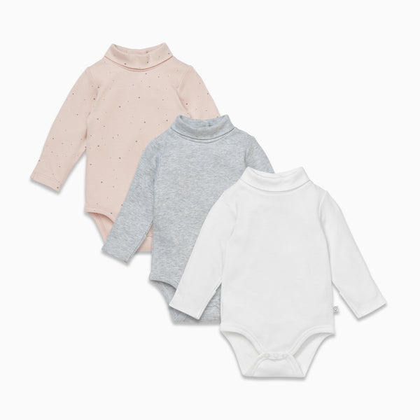 Roll Neck Bodysuit 3 Pack
