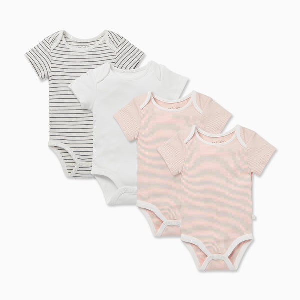 Short Sleeve Bodysuit 4 Pack