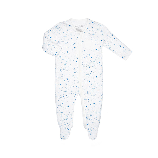 space zip-up sleepsuit