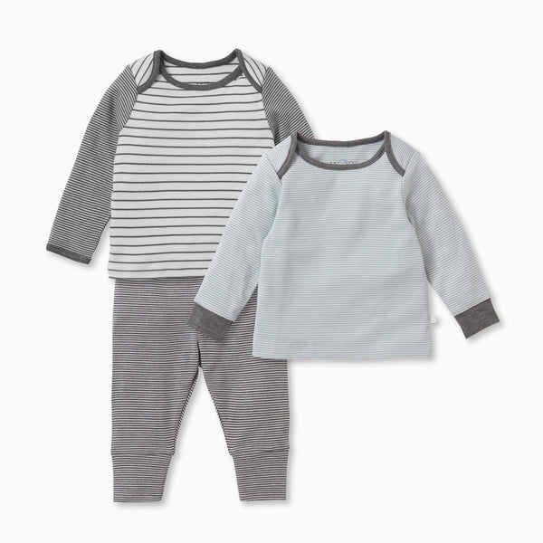 Stripey Lunar & Blue T-Shirts & Leggings Set