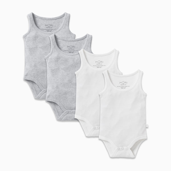 Sleeveless Bodysuit 4 Pack