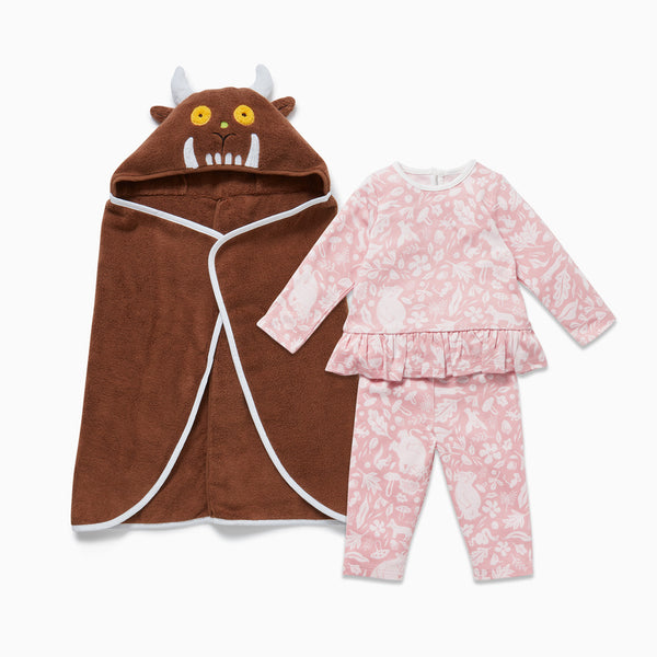 The Gruffalo Foxglove Pink Bath & Sleep Set