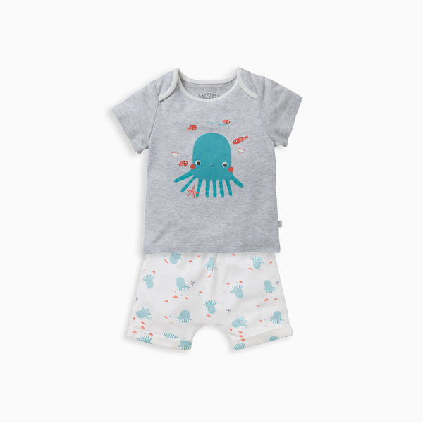 Octopus Shorts & T-Shirt Set