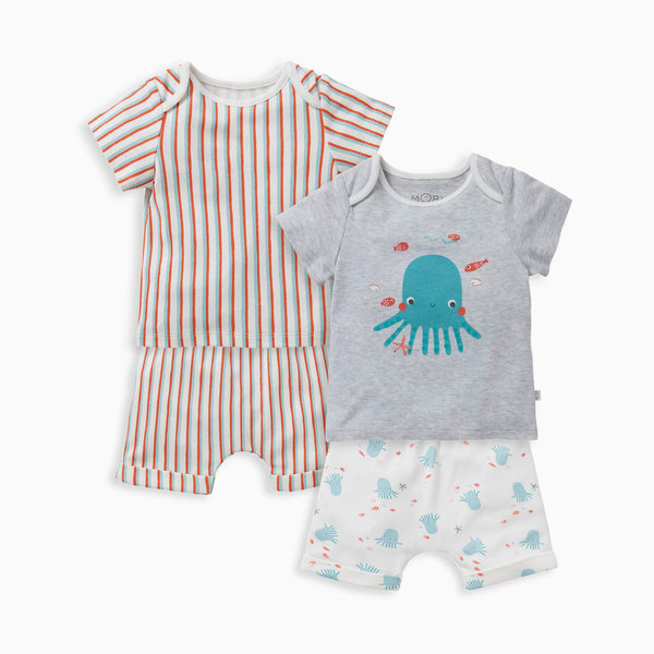 Under The Sea Shorts & T-Shirt 2-Pack