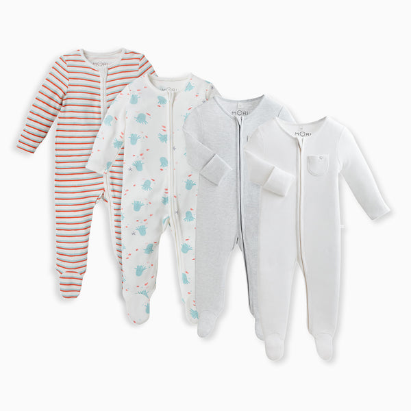 Under The Sea Sleepsuits 4-Pack